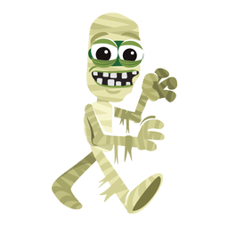 Momia personaje de halloween