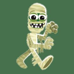 Personaje de halloween momia