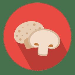 Cogumelo, círculo, ícone