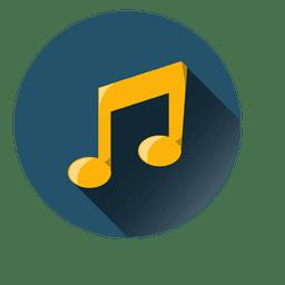 Música icono de la nota círculo