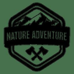 Emblema de aventura natural