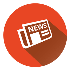 Ícone de círculo de jornal