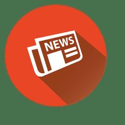 Icono de círculo de periódico
