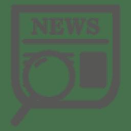 Ícone de pesquisa de jornal