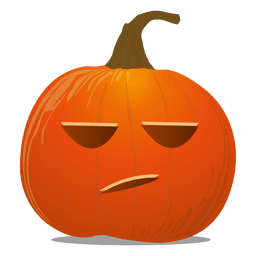 No feeling pumpkin emoticon
