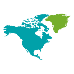América do Norte mapa continental