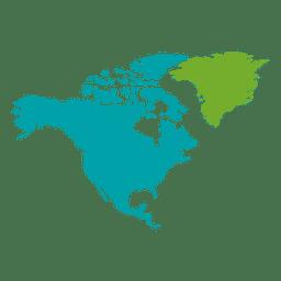 Mapa continental de america del norte