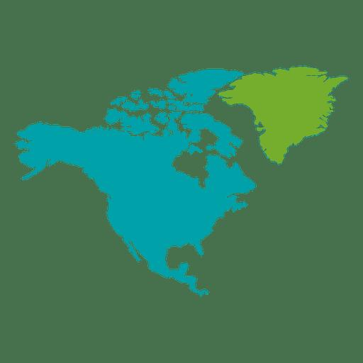 Mapa continental da américa do norte Transparent PNG