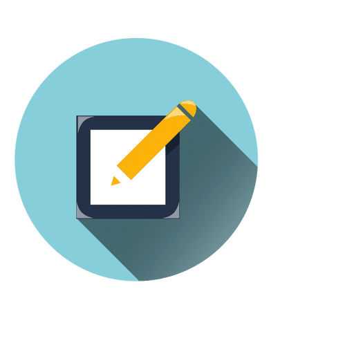 Notepad pen circle icon