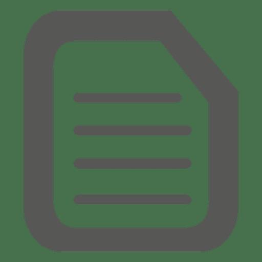 Ícone de papel timbrado Transparent PNG