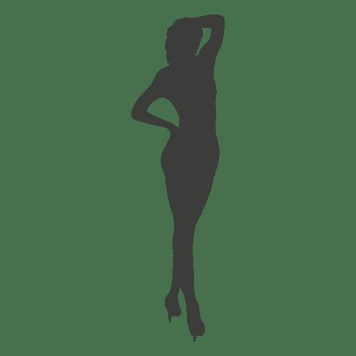 Nude women silhouette