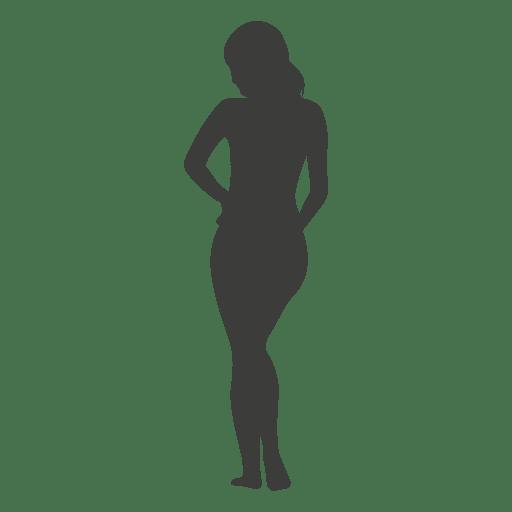 nackte frauen silhouette