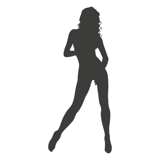 Nude girl silhouette 1