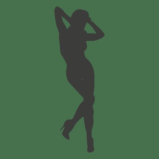 Nude woman silhouette