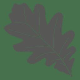 Estilo de linha de folha de carvalho