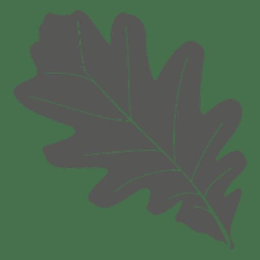 Oak leaf line style Transparent PNG