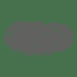 Silhueta de carvalho