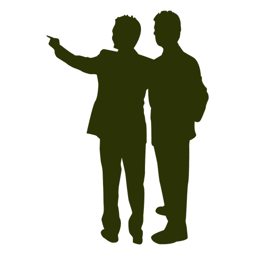 Office collegue talking silhouette Transparent PNG