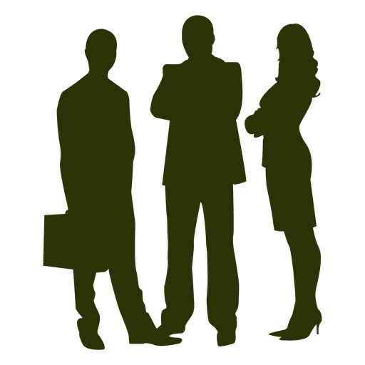 Office collegues meeting silhouette Transparent PNG