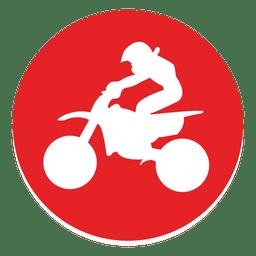Campo a través del icono del círculo de motocross