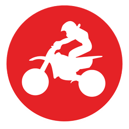 Offroad motocross circle icon