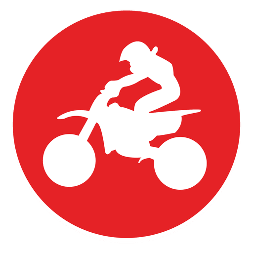 Icono de círculo de motocross offroad Transparent PNG