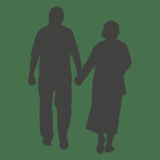 Casal de idosos andando Transparent PNG