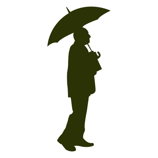 Old man holding umbrella Transparent PNG