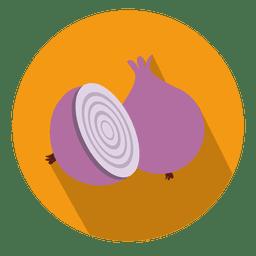Onion circle icon