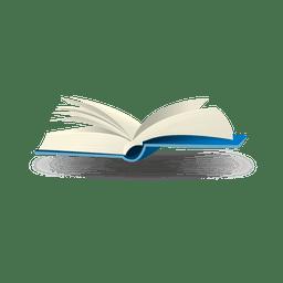 Offenes Buch Blase Symbol