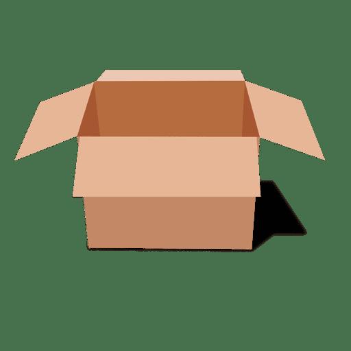 Paquete de cartón abierto