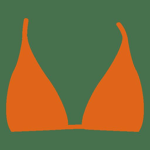 Orange bikini top Transparent PNG