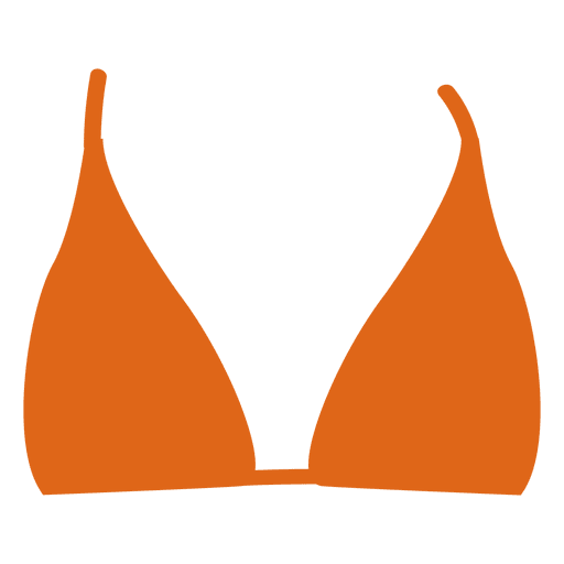 Orange bikini top