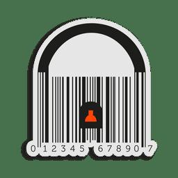 Cadeado de código de barras laranja