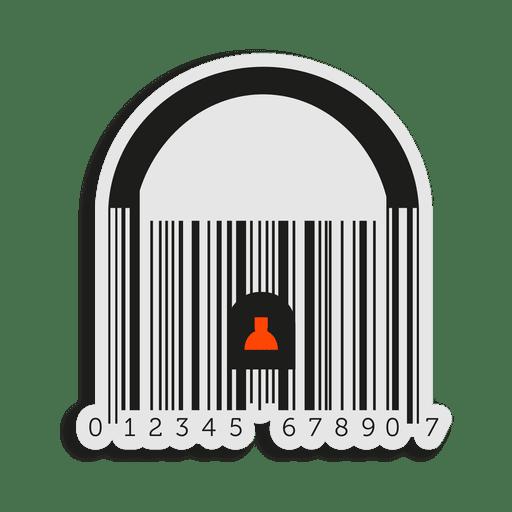 Orange codebar padlock Transparent PNG