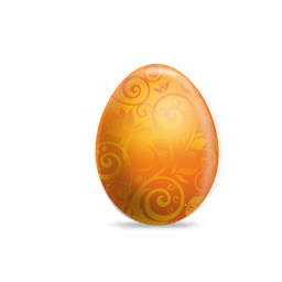 Orange floral easter egg
