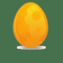 Orange flower easter egg