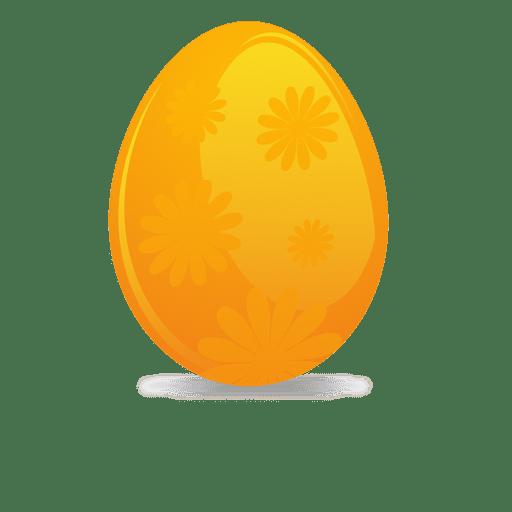 Huevo de pascua de flor de naranja