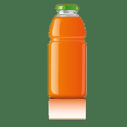 frasco de vidrio de color naranja