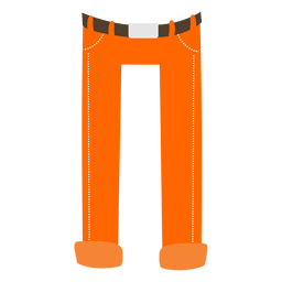 Orange mens pant cartoon