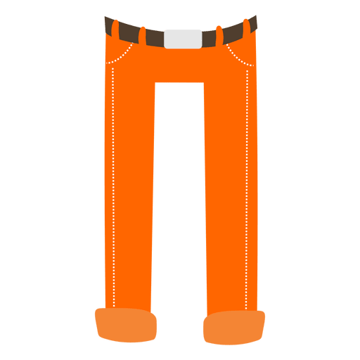 Orange mens pant cartoon Transparent PNG