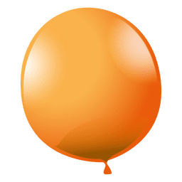 Orange party balloon