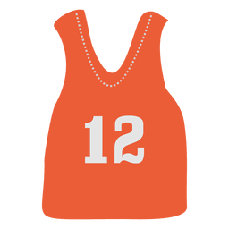 Orange sleeveless jersey