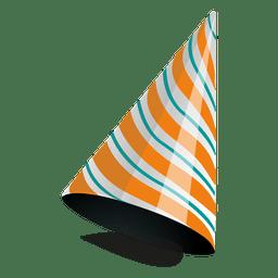 Orange Streifen Partyhut