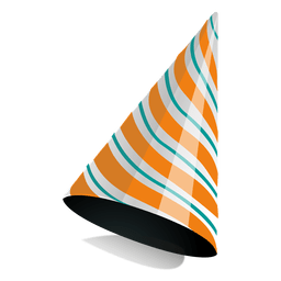Orange stripe party hat