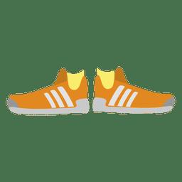 zapatillas de deporte de las mujeres de color naranja