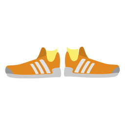 Zapatillas naranja para mujer.