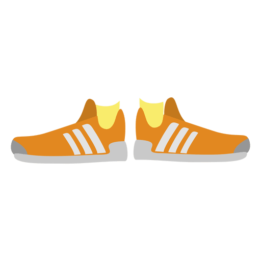 Orange women's sneakers Transparent PNG