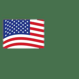 Bandeira de origami EUA