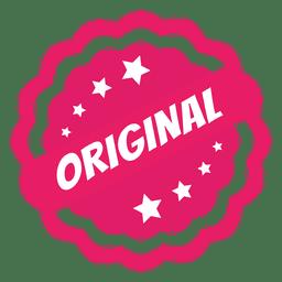 Etiqueta de circulo original